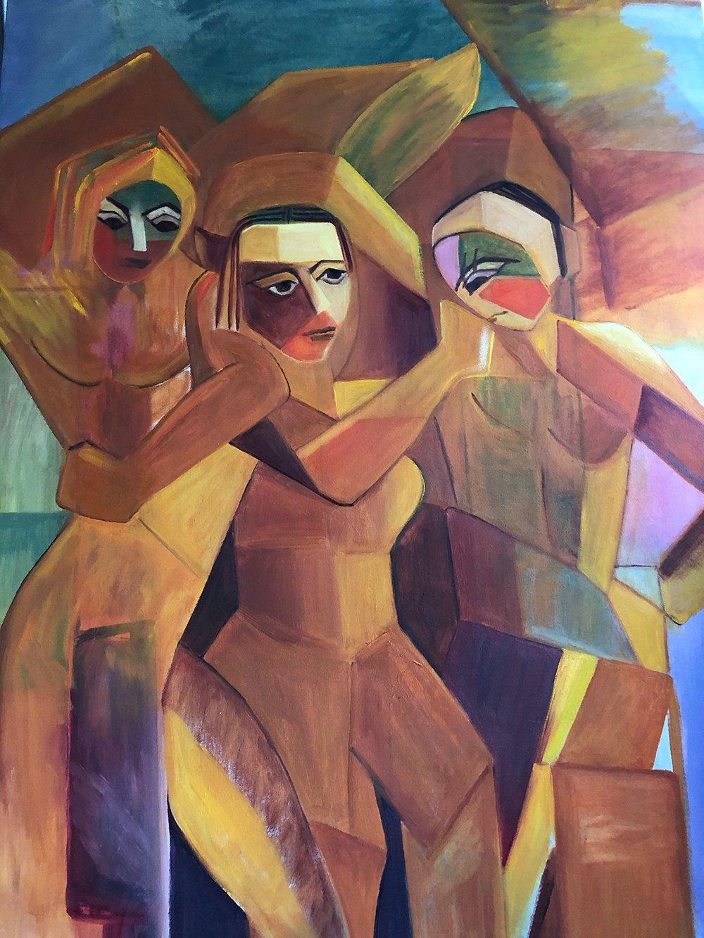 Goddesses of Millennials (After Cubism)